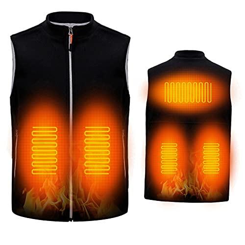Aojun Chaleco Térmico Eléctrico Unisex Chalecos Calefactables Hombre Camiseta Moto de Invierno Lavable para Camping Senderismo Esquí Pesca (Sin bateria)-M