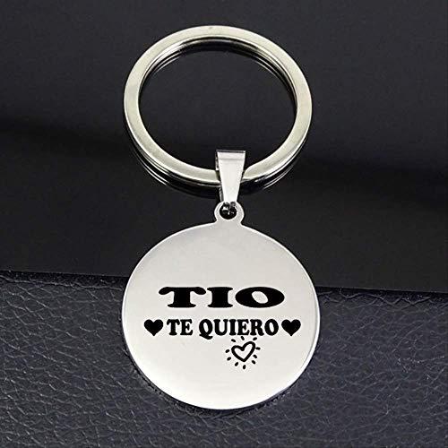 TIO Te Quiero Letter Disc Anhänger Schlüsselring Herrenschmuck Für Onkel Drop Versand
