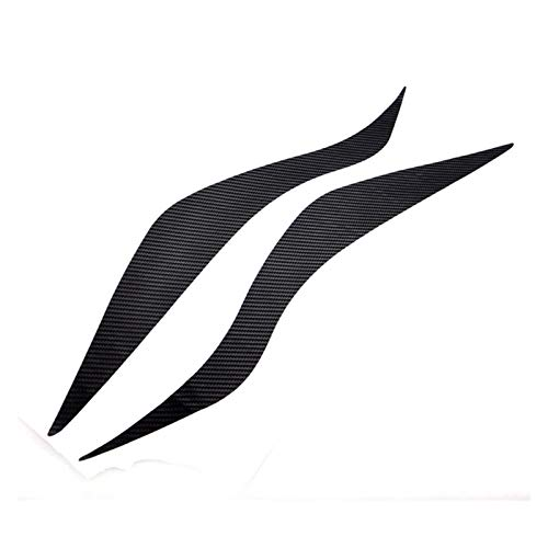 Fundas Cejas 1 Par Negro 3D Etiquetas Engomadas Lámpara Ceja Publicado Linterna del Coche Delineador Ojos 12 para Nuevo F&ocus Fox Etiquetas Engomadas Coche Fibra Carbono F&ORD