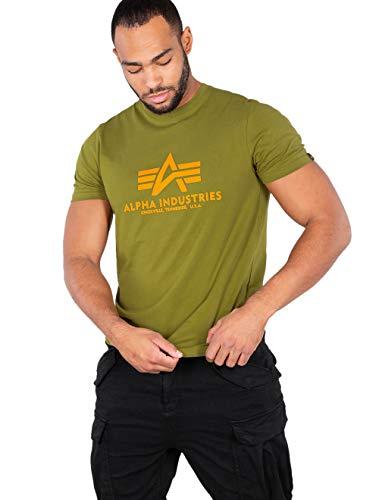 ALPHA INDUSTRIES Basic T-Shirt Camiseta, Khaki Green, XL para Hombre