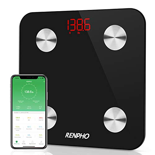 Learn More About RENPHO Smart Bathroom Scale, Bluetooth Body Fat Monitor Weight Scale, Digital BMI K...