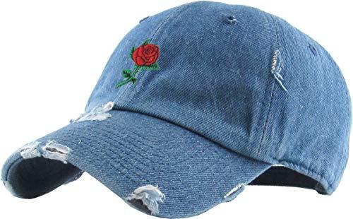 Pineapple Dad Hat Baseball Cap Polo Style Unconstructed (Adjustable, 04a) Rose Vintage Medium Denim