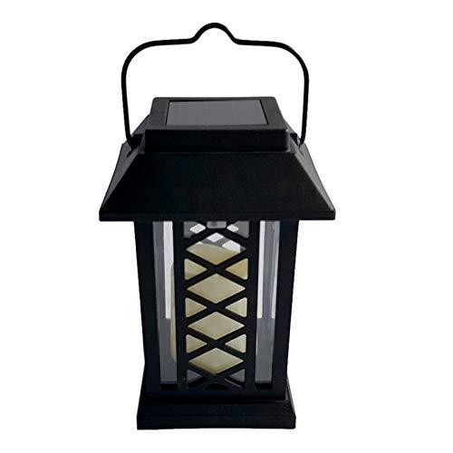 LHQ Lámpara ahorro de energía de la luz LED del jardín de la vela LEH-55154 con el panel solar del silicio amorfo 0.2W
