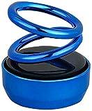 Spidy Moto Solar Power Rotating Car Air Freshener Perfume, with Organic Fragrance (Blue)