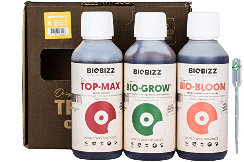 Weedness BioBizz Dünger Set 3-Teiliges Indoor Try Pack - Naturdünger Bio Dünger Grow Starters Pack Orchideen Blaukorn