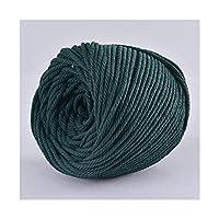 MLKCL 4 mm x 110ヤードコットンロープクラフトレースロープDIYの結婚式の家の織物の装飾用品 (Color : Deep Green)