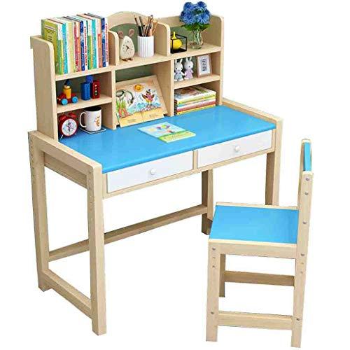 Q/S Children's Desk,Children Study Table,Height Adjustable Kids Desk and Chair Set,Children's Witing Desk(Table:80x50 cm)