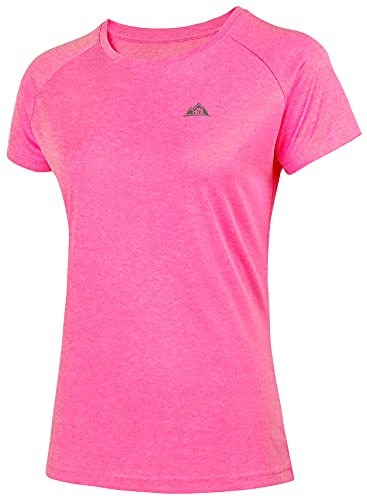 MOERDENG Women's Short Sleeve Running Shirts UPF 50+ Sun Protection SPF Quick Dry Athletic Workout T-Shirts