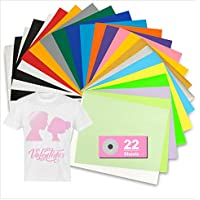 Tilon 22 Sheets PU Heat Transfer Vinyl Bundle