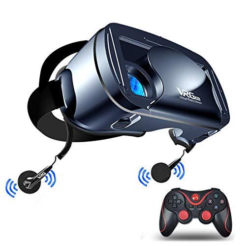 Rzj-njw Virtual-Reality-Headset, Vollbild-3D-VR-Brille, 120-Grad-Weitwinkelobjektiv (für Smartphone-Schutzbrillen von 5 bis 7 Zoll)