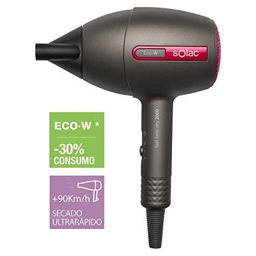 Solac Fast Ionic Dry 2000 - Secador de pelo con Tecnología Eco-W
