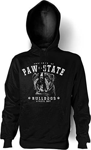 Verve Fun Shirt Hunde englische Bulldogge Kapuzen Sweatshirt in schwarz