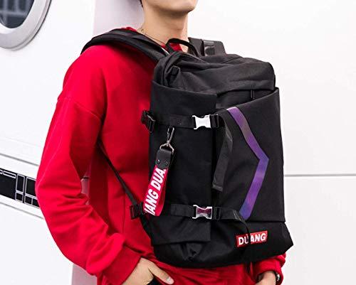 YZjk Street Trend Männer und Frauen Umhängetasche, Hip Hop-Rucksack, Studententasche mit großer Kapazität, Computer-Rucksack