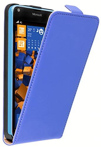 mumbi Tasche Flip Case kompatibel mit Microsoft Lumia 640 Hülle Handytasche Case Wallet, blau