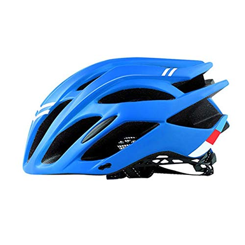 Bicycle Helmet Riding Equipment Helmet Multi-Color Men's Riding Helmet Integrated-Mold Lightweight Breathable Men Mountain Bike (Color : Blue)