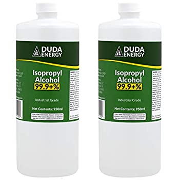2 x 950ml Bottles of 99.9+% Pure Isopropyl Alcohol Industrial Grade IPA Concentrated Rubbing Alcohol 0.50 Gallons