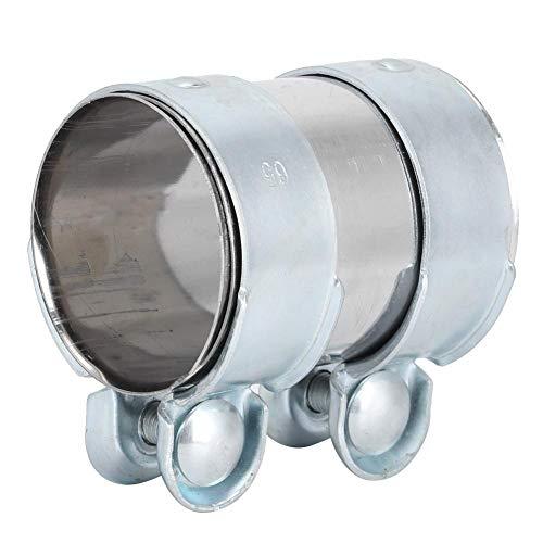 Yctze Abrazadera del tubo de escape, 65 x 90 mm Acoplador del conector de la manga de la abrazadera del tubo de escape 13278371 Reemplazo de aluminio para Seat Leon