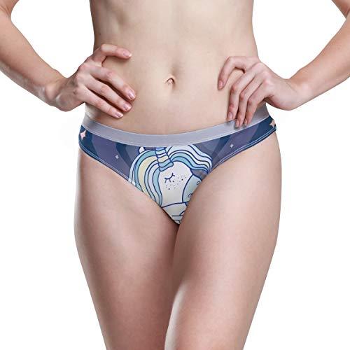 Ropa Interior de Mujer Bikini Lindo Unicornio 3D Impreso Sexy Cintura Baja Bragas Hipster...