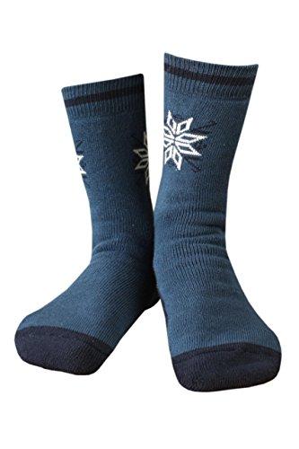 Weri-scie schneestern heren aBS socke. vollfrote rustikales motif d.blau/marine. chaud et sûr pour la vie de tous les jours. - Bleu - L