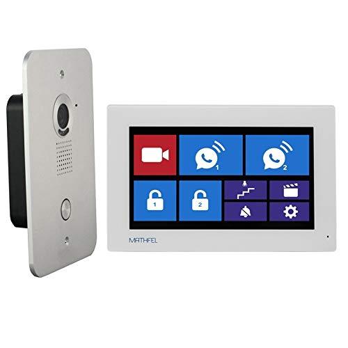 4 Draht Video Türsprechanlage Gegensprechanlage 7'' Monitor Klingel Farb mit oder ohne WLAN Schnittstelle, Farbe: Ohne, Größe: 1x7'' Monitor