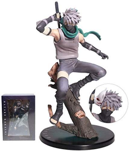 OYQQ Estatua modeloo Hatake Kakashi Modelo De Cabeza Intercambiable Estatua Muñeca S Regalos Colección De Coches De Juguete 21,5 Cm