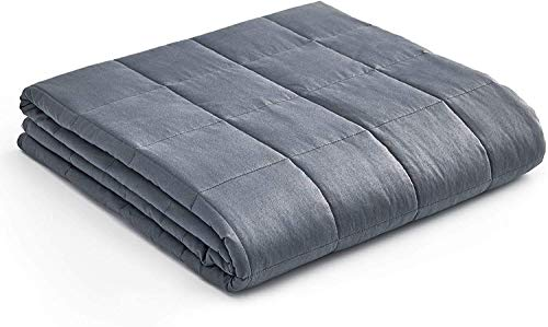 YnM Weighted Blanket — Heavy 100% Oeko-Tex Certified Cotton Material with Premium Glass Beads