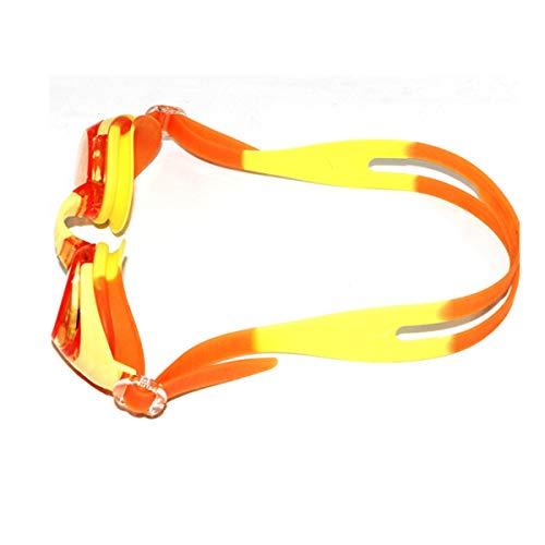 HENGTONGTONGXUN Occhialini da Nuoto, occhialoni Comodi, Morbidi Occhiali antinebbia per Nuoto Giovanile (Color : Yellow)