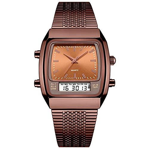 WNGJ Reloj Deportivo, Reloj de Acero a Prueba de Agua a Prueba de Agua, Reloj Despertador, Reloj de Alarma, Reloj, Reloj, el Mismo día, Regalo para el Pad Coffee