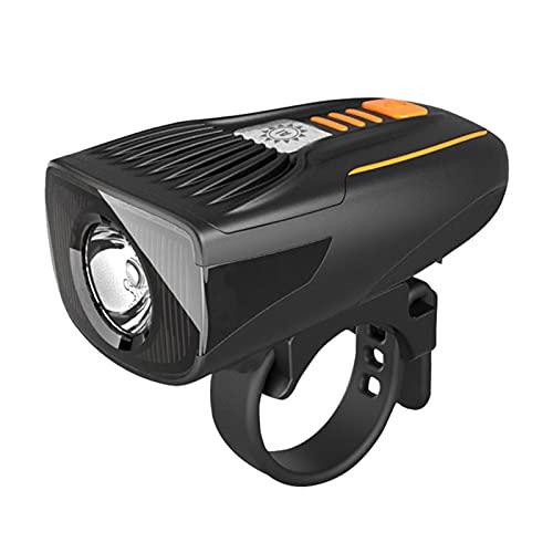 Montloxs Luz Delantera Brillante Recargable por USB Luz de Bicicleta de liberación rápida Luz Delantera LED Inteligente Resistente al Agua para MTB Road