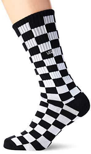 Vans Checkerboard Crew Socks One Size Black-white Check