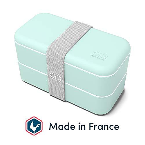 monbento - MB Original Bento Box Made in France rosa - Brotdose mit 2 Fächer - Lunch Box perfekt für Büro/Meal prep/Schule