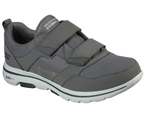 Skechers mens Gowalk 5 Wistful - Double Velcro Athletic Mesh Performance Walking Shoe Sneaker, Khaki, 10 US