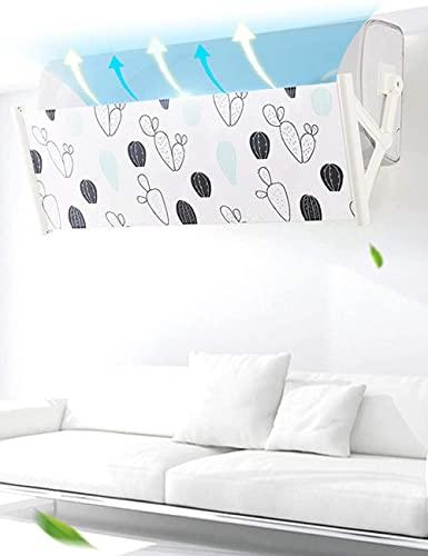 Aria condizionata Vento deflettore Isolamento Regolabili Anti - Freddo stupite condizionatore Wall in Camera a confondermi impedisce, Lunghezza regolabile - Multicolore (C-Cactus) (C-Cactus)
