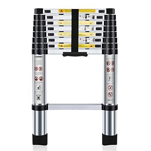 Nestling® 2.6M Escalera Telescópica Multiusos de Aluminio Portátil. Extensión Plegable y Extensible EN131, Carga Máxima 150 kg