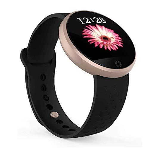 RHBKW Smartwatch für Frauen Herzfrequenz-Messgerät Physiologische Erinnerung Intelligentes Armband Farbbildschirm IP68 wasserdicht Mode Sport Fitness-Armband für Fitness Yoga,Gold