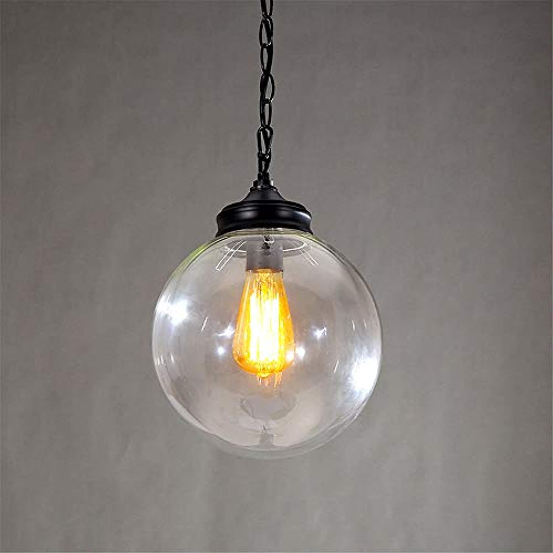 Kreatives design Moderne Glaskugel Pendelleuchten Lampen Für Esszimmer Wohnzimmer Bar 96-265 V E27   E26 Edison-lampe 20 CM