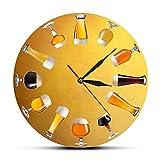 30 cm Reloj de Pared Varios Cerveza Artesanal fría Reloj de Pared Elaboración de Cerveza Reloj silencioso Reloj artístico Inicio