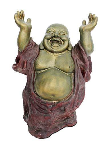 happyDko Sculpture Bouddha Rieur XXL, Mod Résine colorée, H