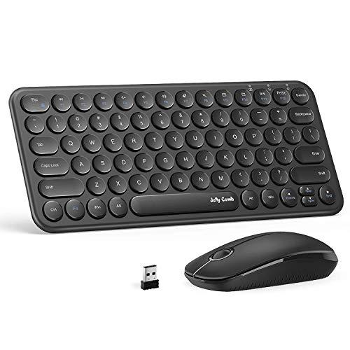 Wireless Keyboard and Mouse Combo, Jelly Comb KS45 2.4GHz Ultra...