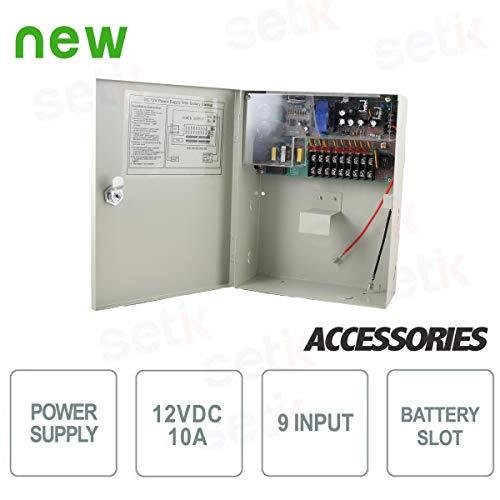 Setik - Caja de Fuente de alimentación 12V 10A: Amazon.es: Electrónica
