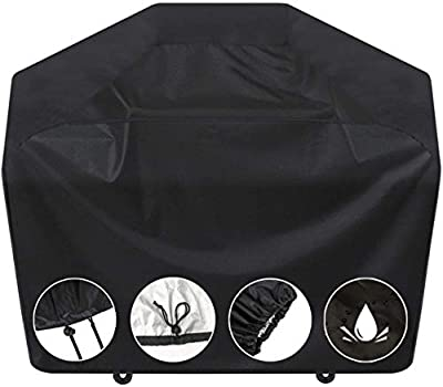 SARCCH Grill Cover-58 inch BBQ Grill Cover,Gas Grill Cover Waterproof?UV Durable and Convenient, Black?Fits Grills of Weber Char-Broil Nexgrill Brinkmann and More