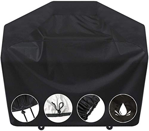 SARCCH Grill Cover-58 inch BBQ Grill Cover,Gas Grill Cover Waterproof,UV Durable and Convenient, Black,Fits Grills of Weber Char-Broil Nexgrill Brinkmann and More