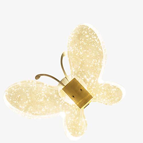 Hong Yi Fei-Shop Lámpara de Pared Lámpara de Pared Dormitorio de la lámpara de cabecera Sencilla Sala de Estar Moderna Lámpara de Pared Creativa Lámpara de Cristal Lámpara de Pared