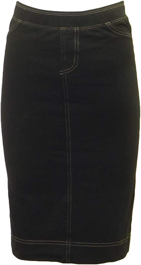 Hard Tail It is very popular Forever Stretch Denim Pencil 2 with 35% OFF Pockets Back Skirt