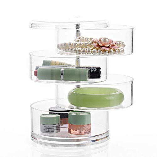 Stratalife Stackable Clear Plastic Hair Accessory Containers Jewelry Storage Organizer with Lids set of 4