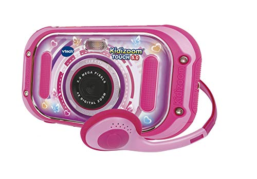 VTech Kidizoom Touch (Pink), Dual Lens Kids Camera, Digital Camera for Photos and Videos, Kids Action Camera with Fun Effects and Games, Kids Digital Camera for Girls and Boys Aged 6 Years+