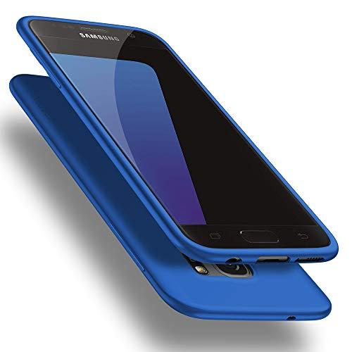 X-level Samusung Galaxy S7 Hülle, [Guardian Serie] Soft Flex Silikon Premium TPU Echtes Handygefühl Handyhülle Schutzhülle für Samsung Galaxy S7 Hülle Cover - Blau