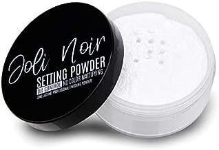 Joli Noir - Setting Powder - No Color Loose Setting Powder - Translucent Matte - No Flash Back - Best Mattifying Face Powder For Oily Skin 1oz.