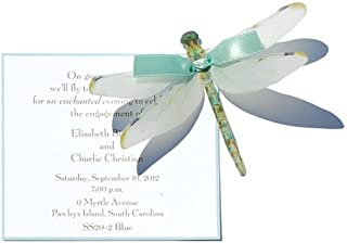 Small Blue Dragonfly Die-cut Card, Pack of 10