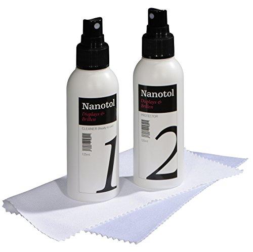 Nanotol Espositori & Occhiali Set M (20 m²) per una visione chiara e una facile pulizia - la soluzione a lungo termine per una pulizia permanente.